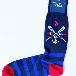 Polo Ralph Lauren Navy Anchor Print Socks